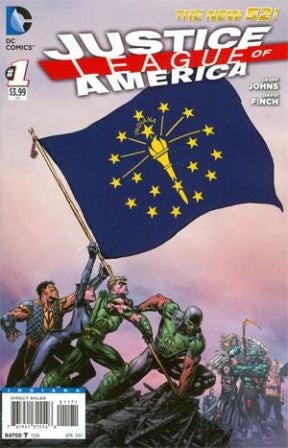 Justice League of America (2013 3rd Series) #1 Indiana State Flag