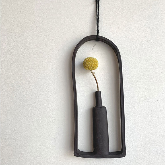 Single Hanging Vase - Black