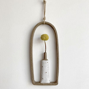 Single Hanging Vase - Natural