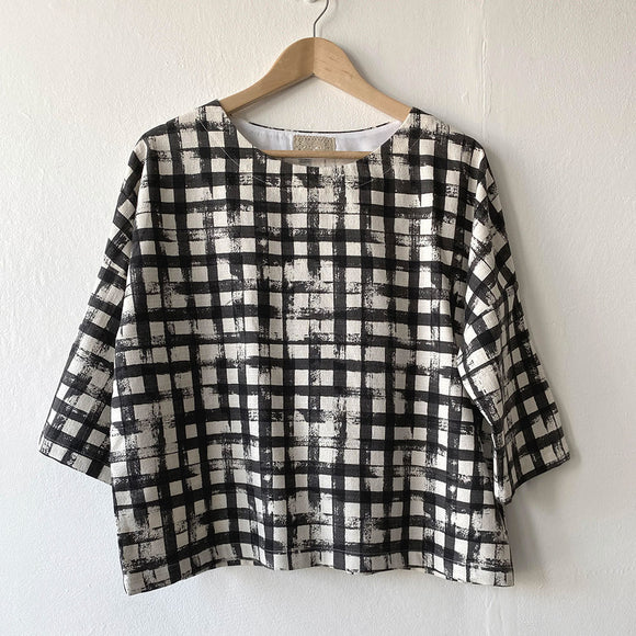 Mim Clarkson Boxy Top - Cotton Barkcloth