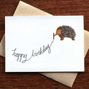 The Colouring Echidna - Greeting Card