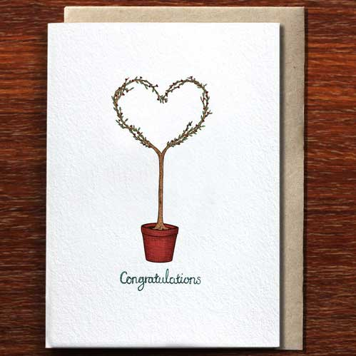Congratulations Love Tree - Greeting Card