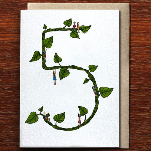 Five - Greeting Card