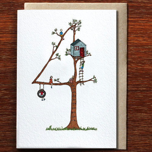 Four - Greeting Card