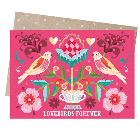 Greeting Card - Lovebirds Forever