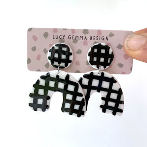 Lucy Gemma Big Check Earrings