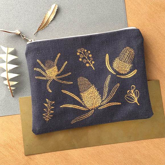Banksia Pouch - Gold