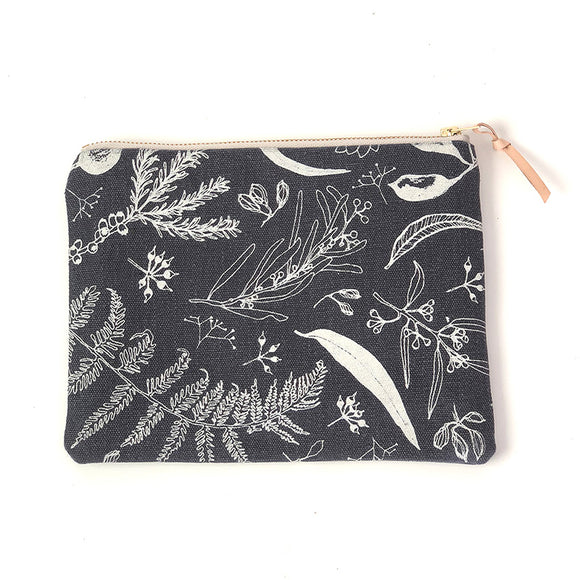 Gathered Pouch - Charcoal