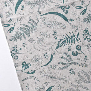 Gathered Tea Towel - Eucalyptus Green