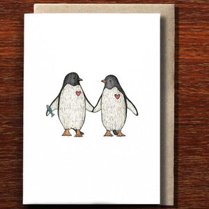 Penguin Love - Greeting Card