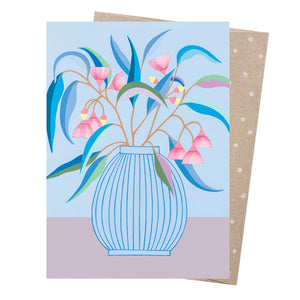 Greeting Card - Blue Gum Vase