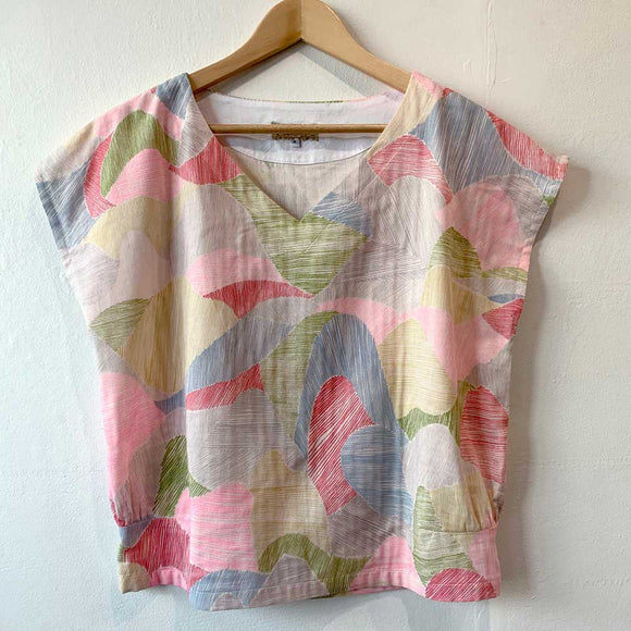 Mim Clarkson Miss Conover Top - Colourful Cotton