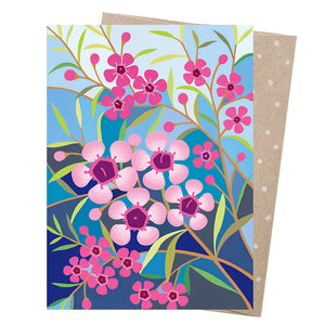 Greeting Card - Geraldton Wax