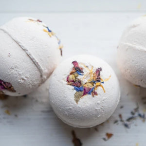Bath Bomb - Rose Geranium and Pink Clay