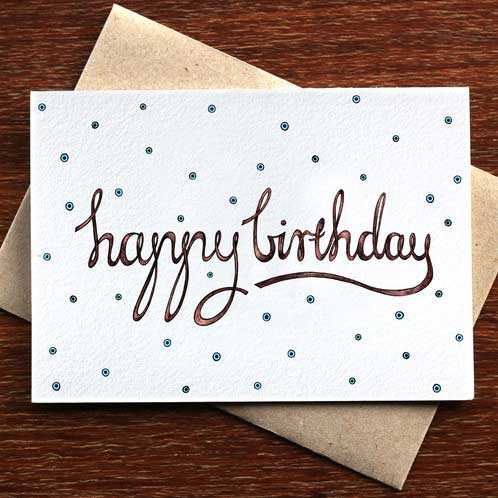 Happy Birthday Spots - Greeting Card