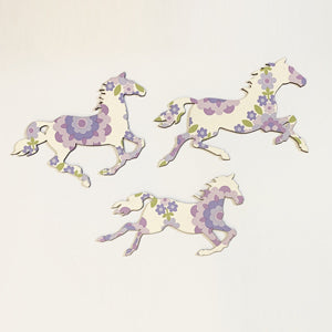 Purple Patterned Galloping Horses