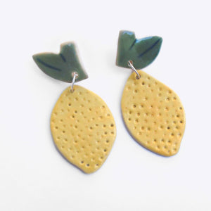 Ceramic Lemons Earrings