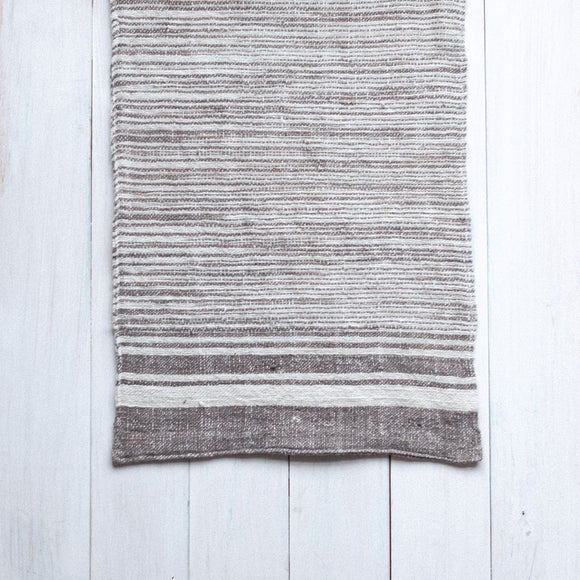 Mekong Clay & Natural Cotton Stripe Hand Towel