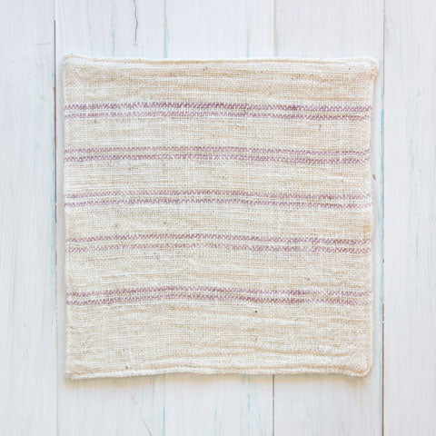 Natural Cotton With LAK Stripe Face Washer