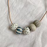 Lucy Gemma Ceramic Bead Necklace