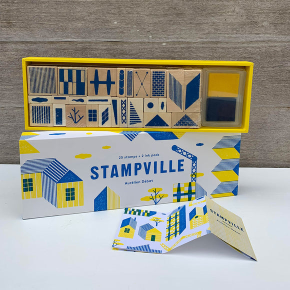 Stampville - 25 stamps + 2 ink pads