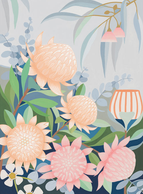 Waratah in the Wind Print