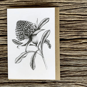 Greeting Card - Waratah