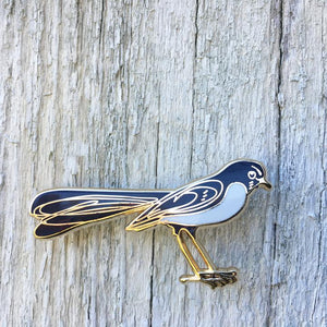 Willy Wagtail Lapel Pin