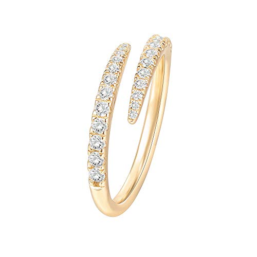 14K Gold Plated Open Twist Eternity Band Ring