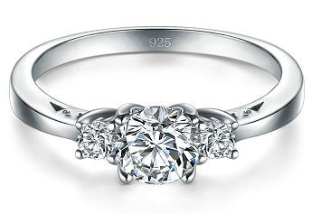 Cubic Zirconia CZ Eternity Engagement Ring
