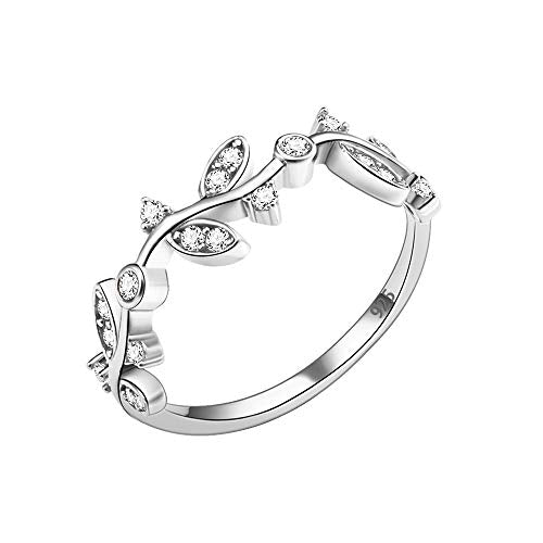 Curved Olive Branch Promise Ring