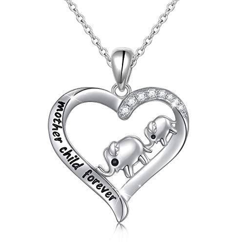 Elephant Love Heart Necklace
