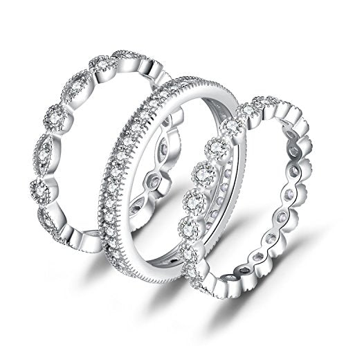 3 Stackable Wedding Bands Ring