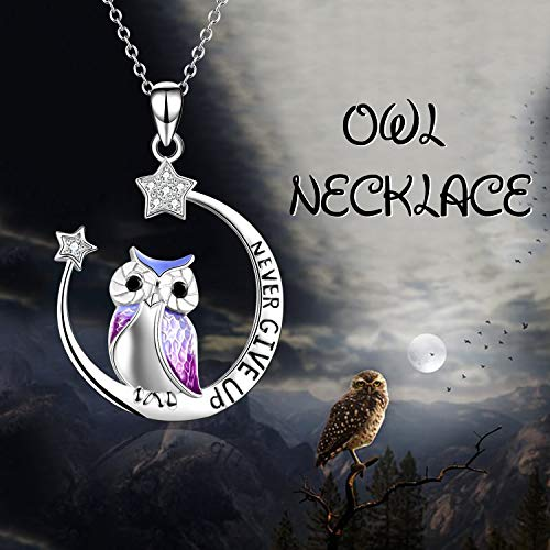 Owl Necklace Moon Star Necklace for Women Girls