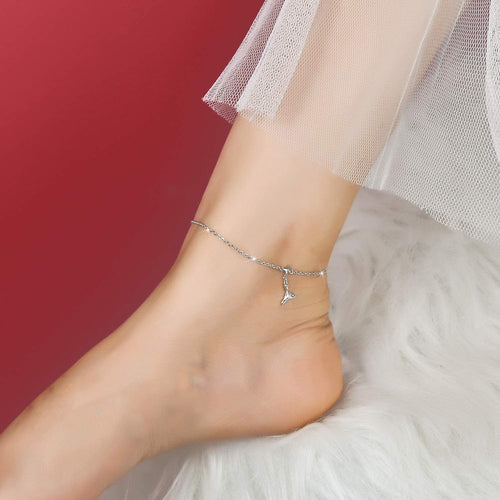 Mermaid Anklet 925 Sterling Silver Jewelry Gifts for Women Wife Girls