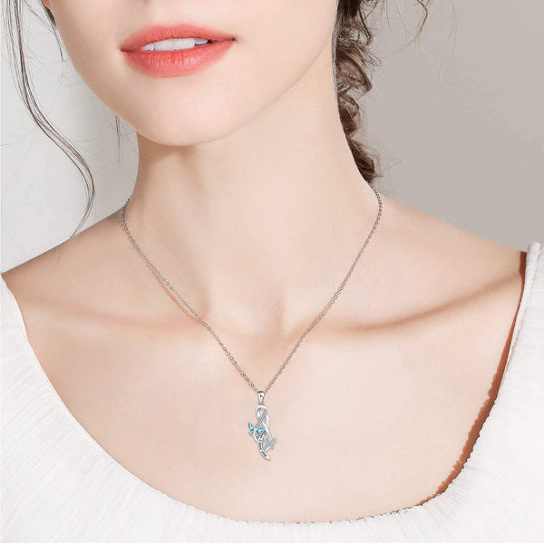 Butterfly Necklace 925 Sterling Silver Jewelry Gifts for Mother's Day Birthday