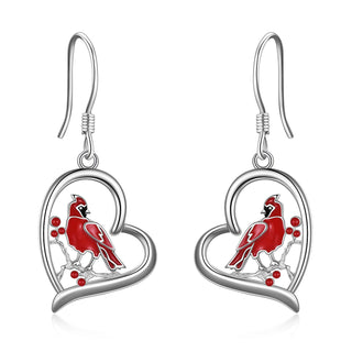 Cardinal Heart Pendant Necklace Jewelry Gifts for Women - Cardinal app –  distancejewelry