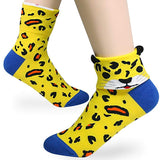 KONY Damesshirts Cute Animal Designed Funny Novelty Crew Socks