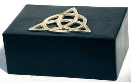 Box, Wood Box with Triquetra Inlay