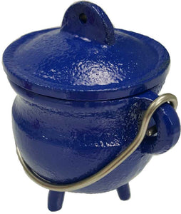 Cauldron, Blue Cast Iron Cauldron