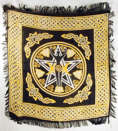 Altar Cloth, Pentagram Goddess Altar Cloth