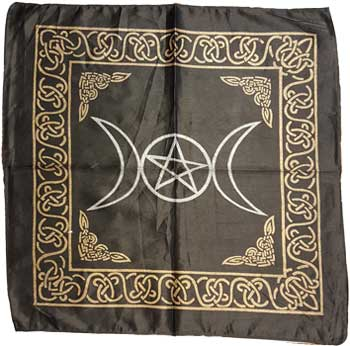 Altar Cloth, Triple Moon Pentagram Altar Cloth