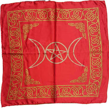 Load image into Gallery viewer, Altar Cloth, Triple Moon Pentagram Altar Cloth