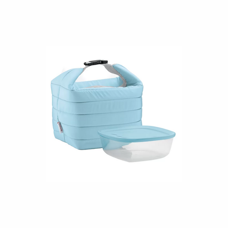 Small Thermal Bag w/ Airtight Container, Matte Blue