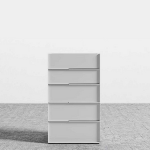 RS Private Collection Tall Dresser, Glossy White Lacquer