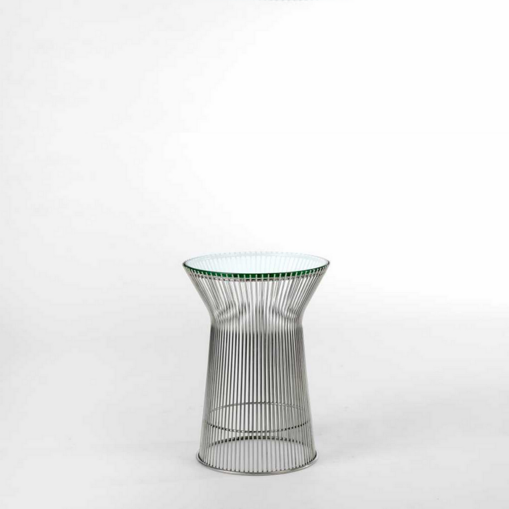 RS Private Collection Side Table, Tempered Glass Top