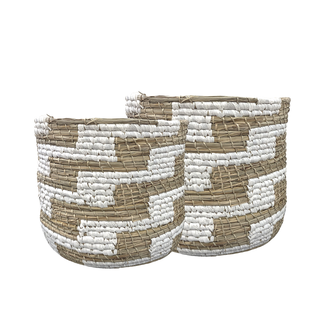 Natural Hand Woven Storage Basket, Medium