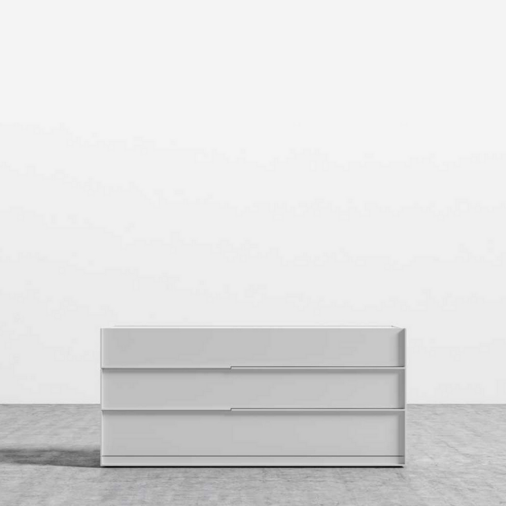 RS Private Collection Wide Dresser, Glossy White Lacquer