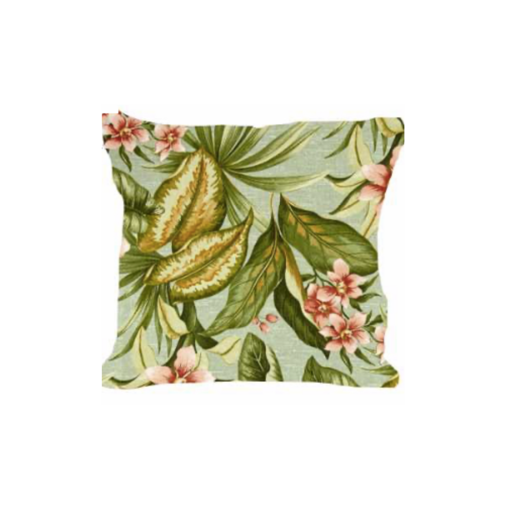 Outdoor Throw Pillow, Herb Garden Morning Mist