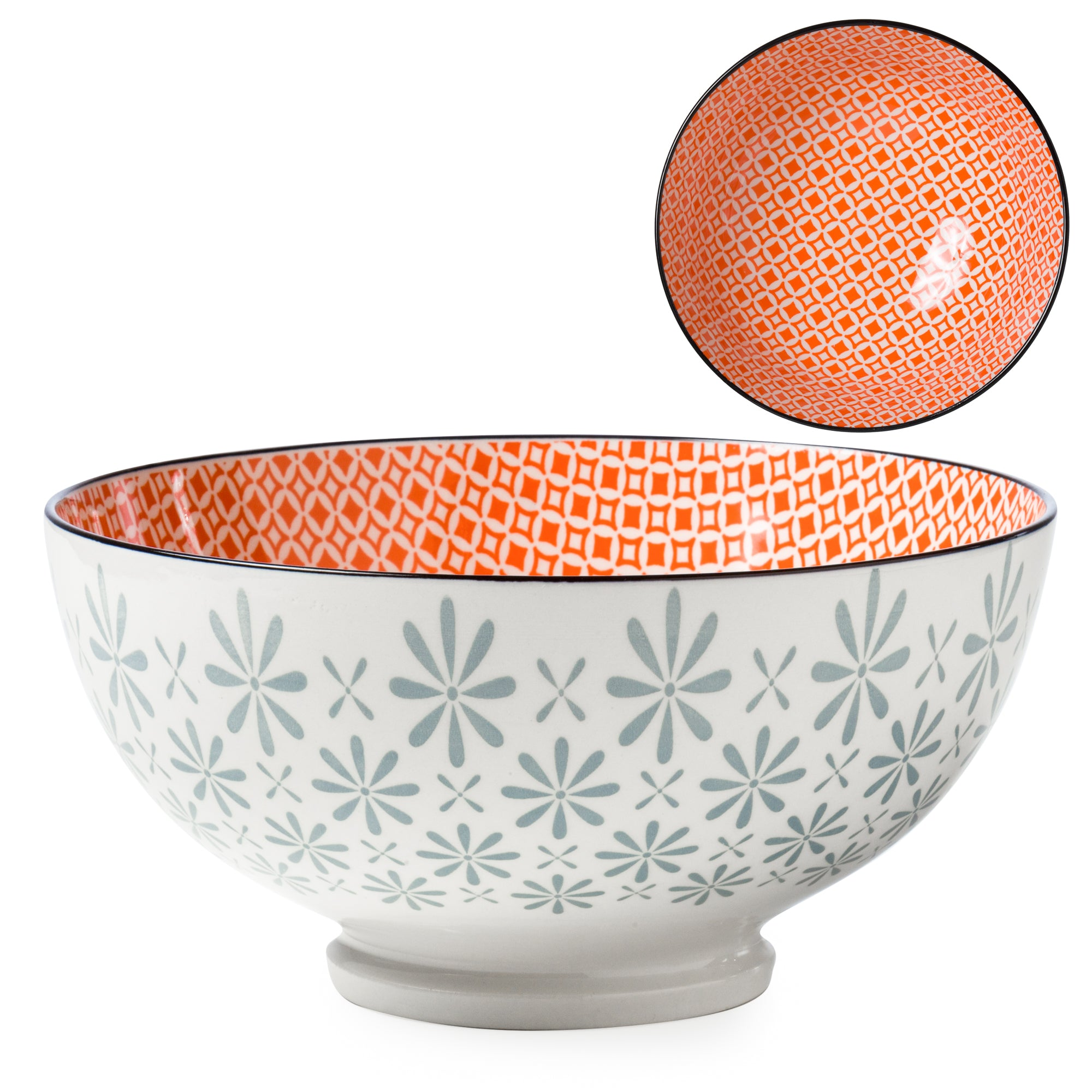 "Kiri Porcelain Bowls- 8"" (22 Colors/Patterns)"